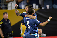 Houston, TX - Tuesday June 21, 2016: Gonzalo Higuain, Ezequiel Lavezzi during a Copa America Centenario semifinal match between United States (USA) and Argentina (ARG) at NRG Stadium.