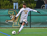7 November 2012: University of Vermont Catamount Defenseman Salvatore Borea, a Junior from New Canaan, CT, in action against the University of New Hampshire Wildcats at Virtue Field in Burlington, Vermont. The Wildcats shut out the top seeded Catamounts 1-0 in the America East playoff matchup. Mandatory Credit: Ed Wolfstein Photo
