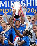 15.05.2021 Rangers v Aberdeen: James Tavernier with the SPFL Premiership league trophy