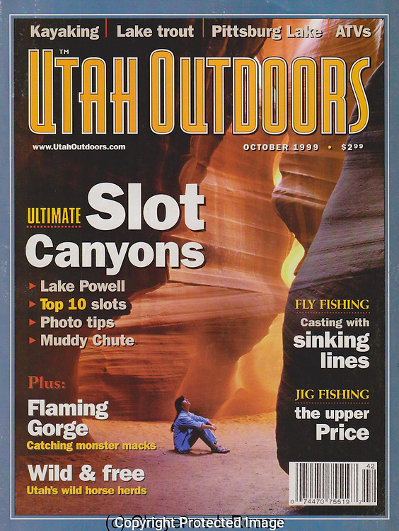 Utah Outdoors Magazine<br /> Slot canyon cover