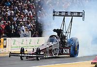 Aug. 7, 2011; Kent, WA, USA; NHRA top fuel dragster driver Larry Dixon during the Northwest Nationals at Pacific Raceways. Mandatory Credit: Mark J. Rebilas-