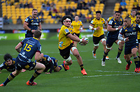 Du'Plessis Kirifi in action during the Super Rugby Aotearoa match between the Hurricanes and Highlanders at Sky Stadium in Wellington, New Zealand on Sunday, 12 July 2020. Photo: Dave Lintott / lintottphoto.co.nz