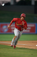 Palm Beach Cardinals Julio Rodriguez (34) rounds third base to score a run during a Florida State League game against the Lakeland Flying Tigers on May 22, 2019 at Publix Field at Joker Marchant Stadium in Lakeland, Florida.  Palm Beach defeated Lakeland 8-1.  (Mike Janes/Four Seam Images)