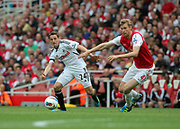 Pictured: Joe Allen of Swansea City in action. Saturday 10 September 2011<br /> Re: Premiership Arsenal v Swansea City FC at the Emirates Stadium, London.