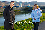 Enjoying a stroll on the canal in Blennerville on Monday, l to r: Janna Burns and Mary Sheehy.