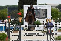 10th September 2021; Circo Massimo Stadium Rome, Italy; Longines Global Equestrian Champions Tour:   Emanuele Gaudiano