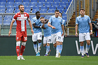 Felipe Caicedo of Lazio celebrates with lazzari after scoring the 1-0 goal during the Serie A football match between SS Lazio and ACF Fiorentina at Olimpico stadium in Roma (Italy), January 6th, 2021. Photo Andrea Staccioli / Insidefoto