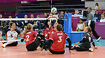 Sarah Melenka, Danielle Ellis, and Julie Kozun, Lima 2019 - Sitting Volleyball // Volleyball assis.<br />