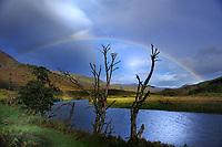 SC -- WESTERN HIGHLANDS<br /> A colourful rainbow lightens the dark weather front over Glen Cannich and River Cannich <br /> <br /> Full size: 69,2 MB