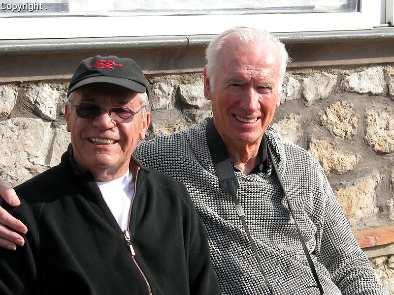 Guy Buffet and Artist, Howard Behrens on the inspiring island of Capri, off the coast of Naples, Italy.