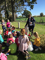 BNPS.co.uk (01202 558833)<br /> Pic: NatashaRook/BNPS<br /> <br /> Pictured: The British Section SHAPE International School teacher and WWI expert Michaela Hyde showing Private Parr's grave to year 4 children.<br /> <br /> A school has missed out in its bid to buy the medal of the first British soldier killed in World War One after it sold for a whooping £17,000.<br /> <br /> Private John Parr, was shot dead by a German patrol near Mons in Belgium on August 21, 1914.<br /> <br /> The 17-year-old had been deployed in a two-man team as a reconnaissance cyclist to scout out German positions.<br /> <br /> The pair were spotted by the German First Army and a firefight ensued, with Pte Parr heroically sacrificing himself so his comrade could escape unscathed and report back to the British lines.