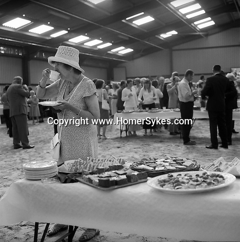 Duke of Beaufort Hunt.  Puppy show competition tea. Badminton estate Gloucestershire England