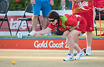 *This image must be credited to Ian Cook Sportingwales and can only be used in conjunction with this event only*<br /> <br /> 21st Commonwealth Games - Lawn Bowls  -  Day 3 - 07/04/2018 - Broadboard beach bowls club - Gold Coast City - Australia