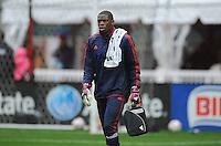Washington, D.C.- March 29, 2014. Sean Johnson of the Chicago Fire. The Chicago Fire tied D.C. United 2-2 during a Major League Soccer Match for the 2014 season at RFK Stadium.