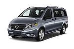 2018 Mercedes Benz Metris Passenger-Van 5 Door Passenger Van Angular Front stock photos of front three quarter view