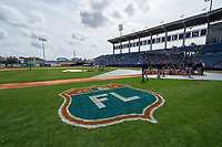 General view of the Detroit Tigers taking batting practice before a Spring Training game against the New York Yankees on March 2, 2016 at George M. Steinbrenner Field in Tampa, Florida.  New York defeated Detroit 10-9.  (Mike Janes/Four Seam Images)