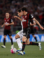 Calcio, finale Tim Cup: Milan vs Juventus. Roma, stadio Olimpico, 21 maggio 2016.<br /> Juventus' Hernanes, left, and AC Milan's Davide Calabria fight for the ball during the Italian Cup final football match between AC Milan and Juventus at Rome's Olympic stadium, 21 May 2016.<br /> UPDATE IMAGES PRESS/Isabella Bonotto