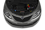 Car Stock 2019 Lancia Ypsilon Gold 5 Door Hatchback Engine  high angle detail view