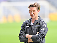 Head Coach Aline Zeler of Sporting Charleroi pictured during a female soccer game between RSC Anderlecht Dames and Sporting Charleroi  on the second matchday of the 2021 - 2022 season of Belgian Womens Super League , saturday 28 th of August 2021  in Brussels , Belgium . PHOTO SPORTPIX   DAVID CATRY