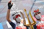 Vincenzo Nibali (ITA) Trek-Segafredo at sign on before the start of Stage 4 of Tirreno-Adriatico Eolo 2021, running 148km from Terni to Prati di Tivo, Italy. 13th March 2021. <br /> Photo: LaPresse/Gian Mattia D'Alberto   Cyclefile<br /> <br /> All photos usage must carry mandatory copyright credit (© Cyclefile   LaPresse/Gian Mattia D'Alberto)