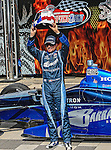 Alex Tagliani (98) driver of the Team Barracuda-BHA car in the winners circle after qualifying number one for the IZOD Indycar Firestone 550 race at Texas Motor Speedway in Fort Worth,Texas. IZOD Indycar driver Alex Tagliani (98) driver of the Team Barracuda-BHA car qualifies in the top spot during the Firestone 550 race...