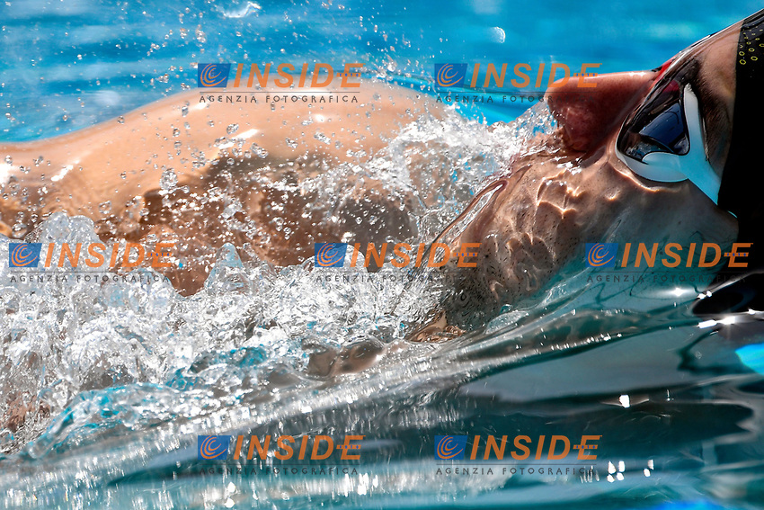 Juan Segura Gutierrez of Spain competes in the men 100m backstroke during the 58th Sette Colli Trophy International Swimming Championships at Foro Italico in Rome, June 25th, 2021. Juan Segura Gutierrez place 9th in his heat.