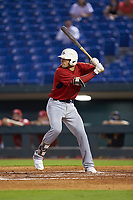 Joseph Mack (31) of Williamsville East HS in Williamsville, NY playing for the Boston Red Sox scout team during the East Coast Pro Showcase at the Hoover Met Complex on August 2, 2020 in Hoover, AL. (Brian Westerholt/Four Seam Images)