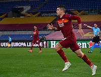 Football Soccer: Europa League -Round of 16 1nd leg AS Roma vs FC Shakhtar Donetsk, Olympic Stadium. Rome, Italy, March 11, 2021.<br /> Roma's Gianluca Mancini celebrates after scoring during the Europa League football soccer match between Roma and  Shakhtar Donetsk at Olympic Stadium in Rome, on March 11, 2021.<br /> UPDATE IMAGES PRESS/Isabella Bonotto