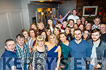 Doreen Lawlor from Castlemaine, front centre, got a great surprise from her family and friends when she walked into the Fiddler bar, Tralee to find they had organised a big 50th birthday party for her.