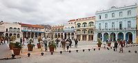Cuba, Havana.  Plaza Vieja, Old Havana.