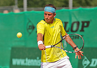 Netherlands, Amstelveen, August 22, 2015, Tennis,  National Veteran Championships, NVK, TV de Kegel,  Men's 35+,  Dennis Kockx<br /> Photo: Tennisimages/Henk Koster