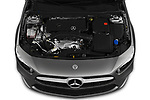Car stock 2019 Mercedes Benz A Class A 200 4 Door Sedan engine high angle detail view