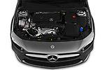 Car stock 2019 Mercedes Benz A Class A 200 4 Door Sedan engine high angle detail view