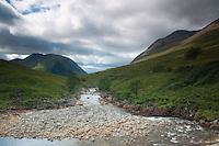 The River Etive and Ben Starav, Glen Etive, Highland