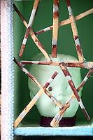close up of modern sculpture