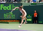 March 24 2018: Agnieszka Radwanska (POL) defeats Simone Halep (ROU) by 3-6, 6-2, 6-3, at the Miami Open being played at Crandon Park Tennis Center in Miami, Key Biscayne, Florida©Karla Kinne/Tennisclix/CSM