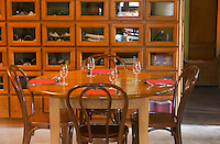 restaurant interior restaurant le bistrot crozes hermitage rhone france