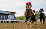 May 15, 2021 : Rombauer, #6, ridden by jockey Flavien Prat wins the Preakness Stakes on Preakness Stakes Day at Pimlico Race Track in Baltimore, Maryland on May 15, 2021. Alex Evers/Eclipse Sportswire/CSM