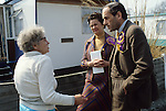 """""""Thorpe works for us."""" Jeremy Thorpe Liberal Politician on the election campaign trail mid Devon constituency 1979.. Barnstable.."""