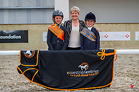Non Graded 12 years and under - Champion: Charlee Halewood (Ty Gwyn Riviera); Reserve: Aggie Shearer (Cardonald Zin Zan). 2021 NZL-Equestrian Entries NZ Youth Dressage Festival. NEC Taupo. Sunday 31 January. Copyright Photo: Libby Law Photography