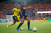 HOUSTON, TX - JUNE 13: Lynn Williams #6 of the United States moves with the ball during a game between Jamaica and USWNT at BBVA Stadium on June 13, 2021 in Houston, Texas.