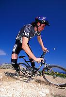 Rob Warner riding GT bike <br /> Cyprus  1994<br /> pic copyright Steve Behr / Stockfile