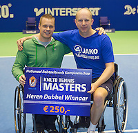 21-12-13,Netherlands, Rotterdam,  Topsportcentrum, Tennis Masters, Final doubles man's wheelchair:  winners  :  Maikel Scheffers and Ronald Vink(R)(NED)<br /> Photo: Henk Koster
