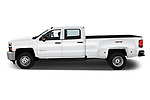 Car driver side profile view of a 2019 Chevrolet Silverado-3500 WT 4 Door Pick Up