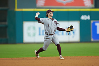 Luke Alexander (7) of the Mississippi State Bulldogs on defense against the Sam Houston State Bearkats during game eight of the 2018 Shriners Hospitals for Children College Classic at Minute Maid Park on March 3, 2018 in Houston, Texas. The Bulldogs defeated the Bearkats 4-1.  (Brian Westerholt/Four Seam Images)