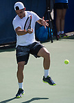 July 31,2017:   Thomas Fabbiano (ITA) loses to Nicolas Mahut (FRA) 6-1, 7-6, at the Citi Open being played at Rock Creek Park Tennis Center in Washington, DC, .  ©Leslie Billman/Tennisclix/CSM
