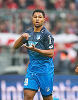Serge GNABRY, Hoff 29 celebration 0-2, celebrates bescheiden, weil er Vertrag and dem FC Bayern hat <br /> FC BAYERN MUENCHEN - TSG 1899 HOFFENHEIM  5-2<br /> Football 1. Bundesliga , Muenchen,27.01.2018, 20. match day,  2017/2018, <br />  *** Local Caption *** © pixathlon<br /> Contact: +49-40-22 63 02 60 , info@pixathlon.de<br /> Contact: +49-40-22 63 02 60 , info@pixathlon.de