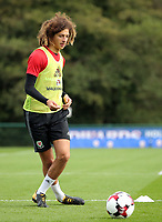 Pictured: Ethan Ampadu. Monday 02 October 2017<br /> Re: Wales football training, ahead of their FIFA Word Cup 2018 qualifier against Georgia, Vale Resort, near Cardiff, Wales, UK.