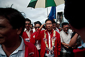 Bacolod, Philippines.January 1986<br /> <br /> President Ferinard Marcos campaigning for re-election.<br /> <br /> The People Power Revolution was a mostly nonviolent mass demonstration in the Philippines. <br /> <br /> In November 1985, President Ferdinand Marcos announced snap presidential elections be held in 1996, one year ahead of schedule. The opposition candidate was Corazon Aquino and Marcos himself ran for re-election. The elections were held on February 7. The electoral exercise was marred by widespread violence and tampering of election results. The official election canvasser, the Commission on Elections (COMELEC), declared Marcos the victor. The National Movement for Free Elections (NAMFREL), an accredited poll watcher, had Aquino as the winner. Due to the reports of alleged fraud, the Catholic Bishops Conference of the Philippines (CBCP) issued a statement condemning the elections. The United States Senate passed a resolution stating the same. <br /> <br /> Four days of action with millions of Filipinos taking to the streets in Manila led to the downfall of the authoritarian regime of President Marcos. The Marcos family fled the country and was transported by American helicopters to Clark Air Base in Angeles City, Pampanga, before heading on to Guam, and finally to Hawaii. Corazon Aquino was installed as the president of the Republic..
