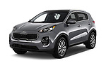 2019 KIA Sportage EX 5 Door SUV angular front stock photos of front three quarter view